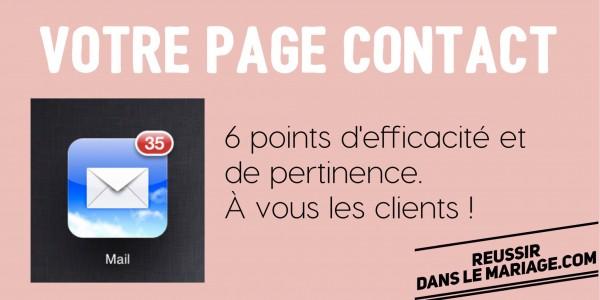 Page contact : pas d'erreur, elle doit être efficace, en 6 points!