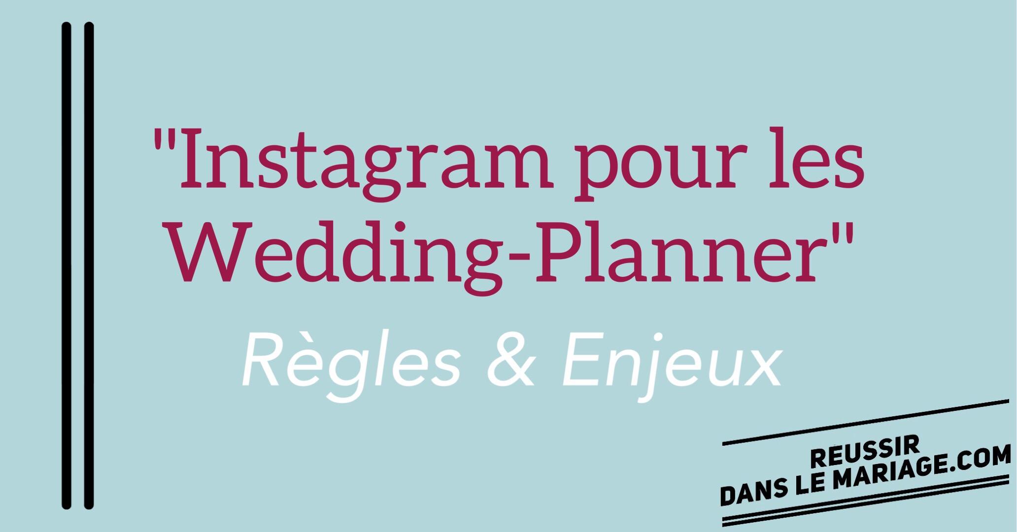 Instagram pour les wedding-planner