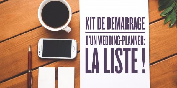 Kit de démarrage d'un wedding-planner ? La liste !
