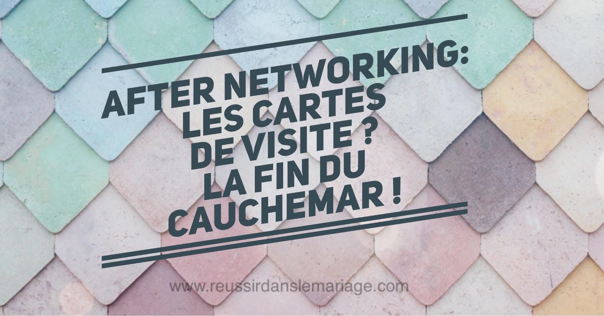 cartes de visites after networking